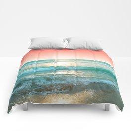 Aqua and Coral, 1 Comforters