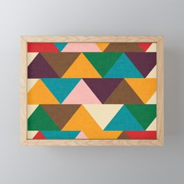 Kilim Chevron Framed Mini Art Print