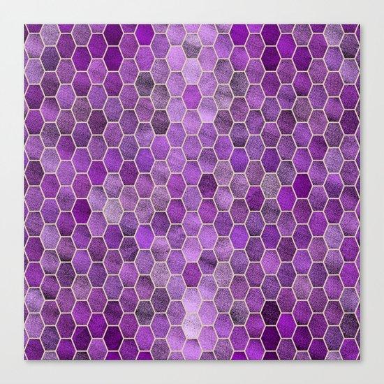 Glitter Tiles V Canvas Print