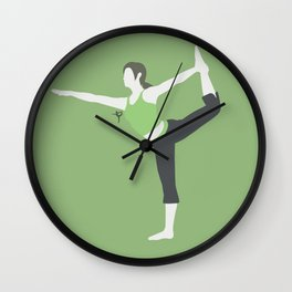 Wii Fit Trainer♀(Smash)Green Wall Clock