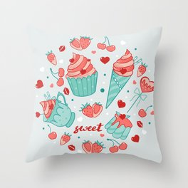 Valentine's sweets - Pastel Throw Pillow