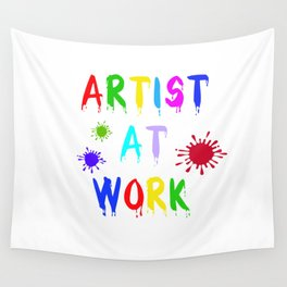 Artist at Work Wall Tapestry
