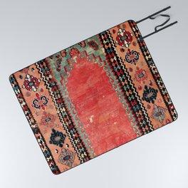Sivas  Antique Cappadocian Turkish Niche Kilim Print Picnic Blanket