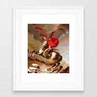 napoleon Framed Art Prints featuring Napoleon by Marko Köppe