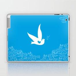 Love and Freedom - Blue Laptop & iPad Skin