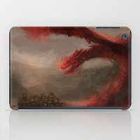 smaug iPad Cases featuring Smaug 2 by nlmda