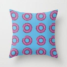 Bitten donut Throw Pillow