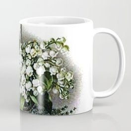 Vintage Lily of the Valley Flower Basket Coffee Mug