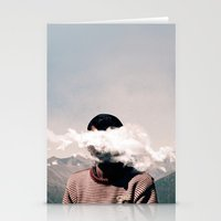 cloud Stationery Cards featuring cloud by Monika Traikov