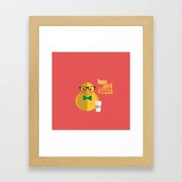 duck nerd power Framed Art Print