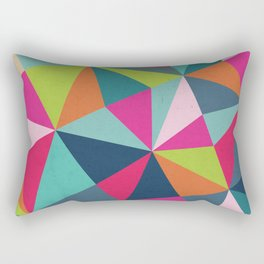 Geometric Triangle Pattern  - Spring Color Palette - Rectangular Pillow