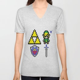 Legend of Zelda Pixel Unisex V-Neck
