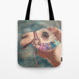 Michael's First Christmas, Camel Tote Bag