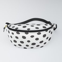 Minimal - black polka dots on white - Mix & Match with Simplicty of life Fanny Pack