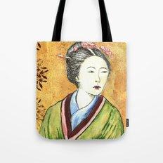 Japanese Woman Tote Bag