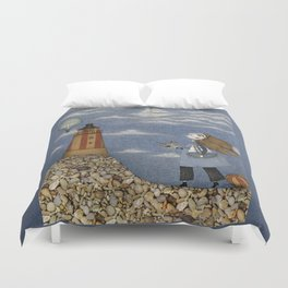 Ship in the Sky Duvet Cover