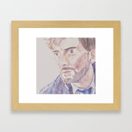 Don't Look At Me Like That Framed Art Print
