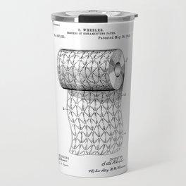 patent art Wheeler Process of ornamenting paper 1893 Travel Mug