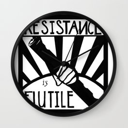 Resistance is Flutile Wall Clock