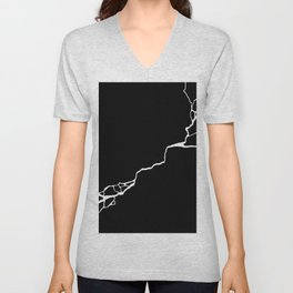 Diagonal Destroyed Dark Unisex V-Neck