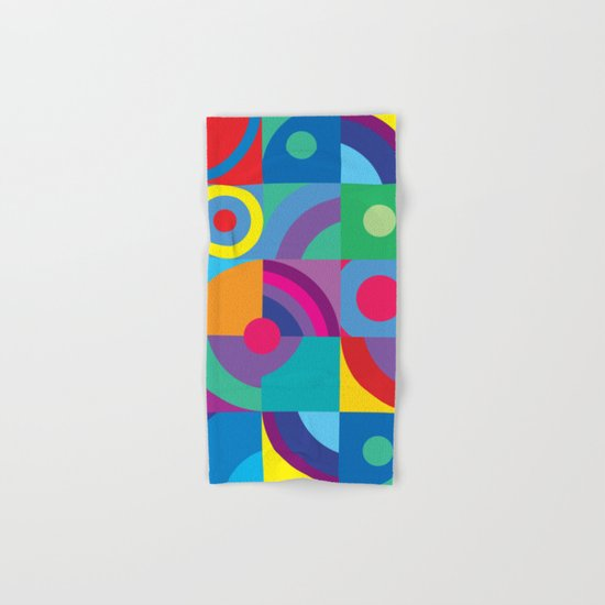 Geometric Figures in color Hand & Bath Towel