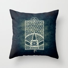 Ultra Sacred Geometry Throw Pillow