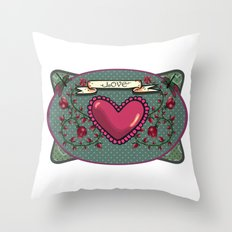 love  and heart Throw Pillow