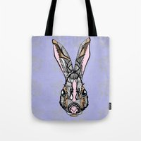 rabbit Tote Bags featuring Rabbit by SilviaGancheva