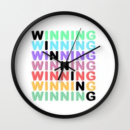 WINNING - Color Expression Wall Clock