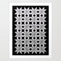 Silver Snow Art Print