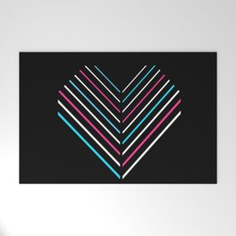 Transcend Neon Heart Welcome Mat
