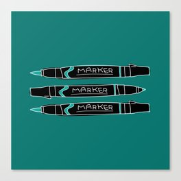 Markers Canvas Print