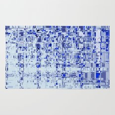 Abstract Architecture Blue Rug