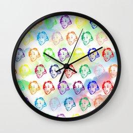 Einstein Stencil Work Wall Clock