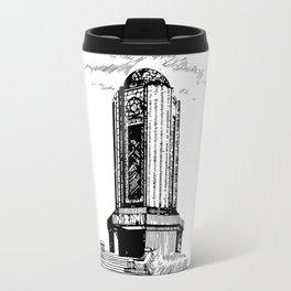 Old Mausoleum Ink Art Travel Mug