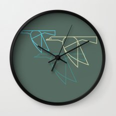 Mid-Century Style Ducks Wall Clock