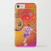 soccer iPhone & iPod Cases featuring Soccer by Ticopage designs