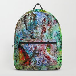 painted wall Backpack