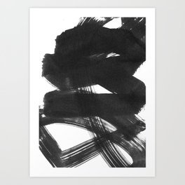 b+w strokes 2 Art Print