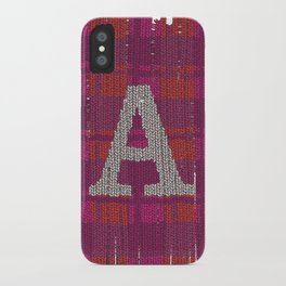 Winter clothes. Letter A III. iPhone Case