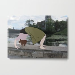 Backbend Metal Print