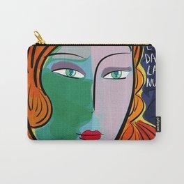 Une étoile dans la nuit French Pop Girl Art Decoration Carry-All Pouch