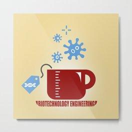 Biotechnology Engineering Metal Print