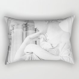 Lady In White Rectangular Pillow