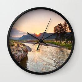 Soda Butte Creek Wall Clock
