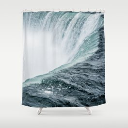 Landscape Photography | Niagara Falls | Waterfall | Aqua | Mist | Fog | Blue | Marine Shower Curtain