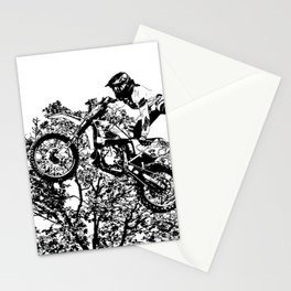 Stealing the Air - Freestyle Motocross Rider Stationery Cards