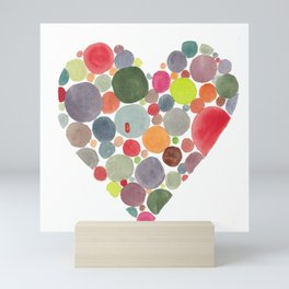 Happy heart Mini Art Print