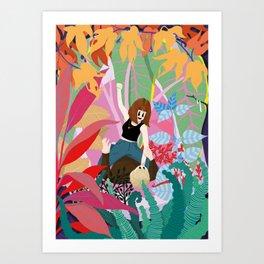 Trouble in Paradies Art Print