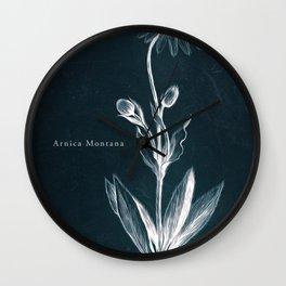 Cyanotype - Arnica Montana - Cropped Wall Clock